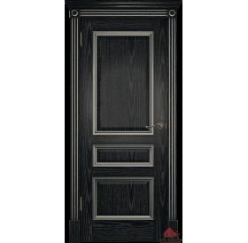 Дверь межкомнатная Вена черная патина серебро ПГ