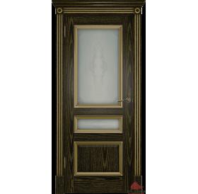 Дверь межкомнатная Вена черная патина золото ПО