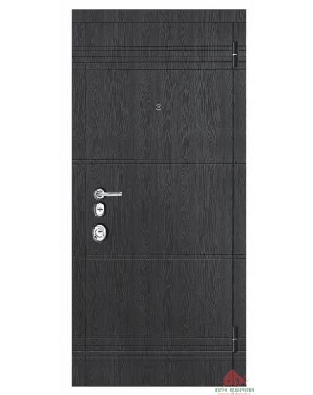 Дверь входная металлическая М770 Дуб графит