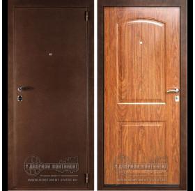 Входная металлическая дверь Дверной Континент Классик (Орех темный)