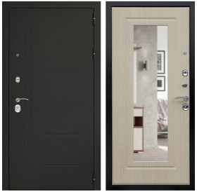 Входная металлическая дверь Дверной Континент Сити 3К с зеркалом (Беленый дуб)