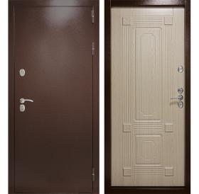 Входная уличная дверь с терморазрывом Термаль Ультра (Медный антик / Дуб белёный)