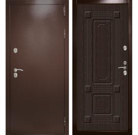 Входная уличная дверь с терморазрывом Термаль Ультра (Медный антик / Венге)