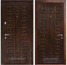 Входная металлическая дверь Дверной Континент Люкс (Венге / Венге)