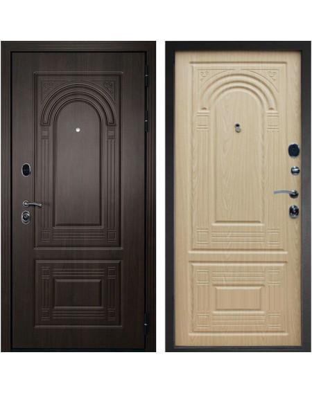 Входная дверь Дверной Континент Флоренция (Темный орех / Дуб беленый)
