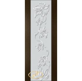 ДП Палермо, шпон ВЕНГЕ бесцветный лак, стекло триплекс белое рис. 15