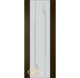 ДП Палермо, шпон ВЕНГЕ бесцветный лак, стекло триплекс белое рис. 19
