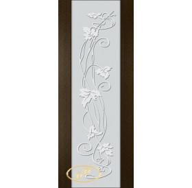 ДП Палермо, шпон ВЕНГЕ бесцветный лак, стекло триплекс белое рис. 11