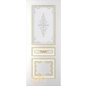 ДП Блюз, тон Белый, патина золото (акрил), стекло матовое с рис. 2 2-е матирование